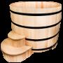 Купель деревянная круглая